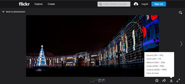 Flickr - Nơi cung cấp hình ảnh chất lượng cao khá tốt