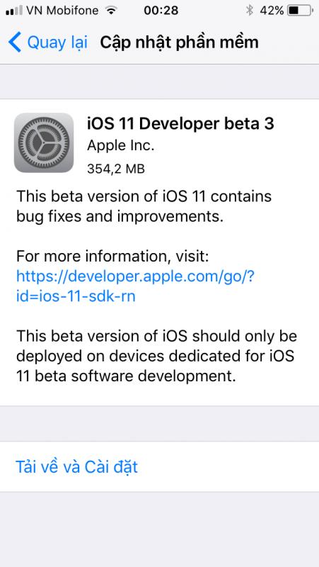IMG 0272 451x800 - Đã có iOS 11 Developer beta 3, mời bạn tải về