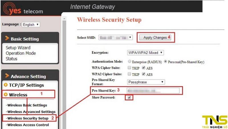 Cách đổi mật khẩu Wi-Fi VNPT Yes Telecom
