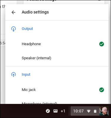 chromebook audio output 3 - Cách chuyển đổi đường xuất tín hiệu âm thanh trên Chromebook
