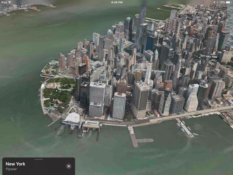 """flyover 2 800x600 - Làm """"Batman"""" với tính năng Flyover trên iOS 11"""