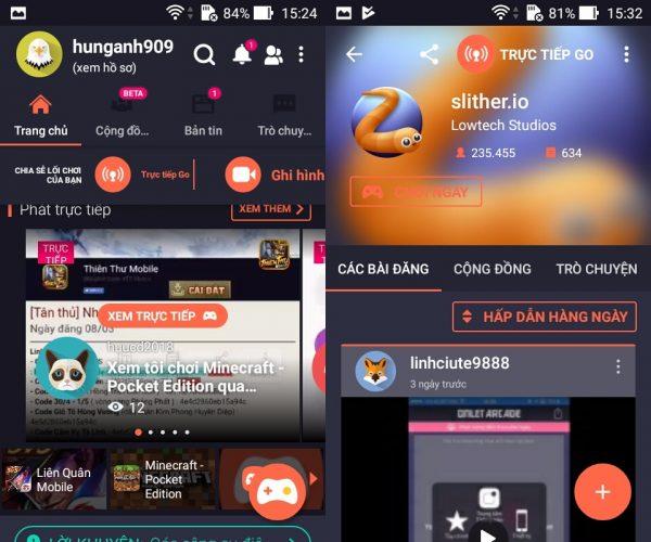 Live Stream màn hình chơi game trên Android