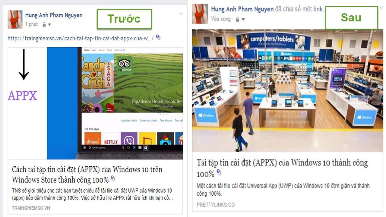 pretty links - Cách share Facebook với tiêu đề, mô tả, hình ảnh theo cách của bạn