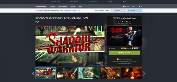 Shadow Warrior Humble Store free