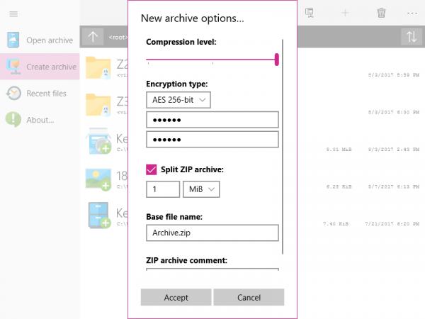 W10Zip: Nén và giải nén file ZIP trên Windows 10
