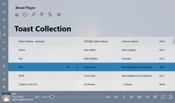 Bread Player - Ứng dụng nghe nhạc trên Windows 10