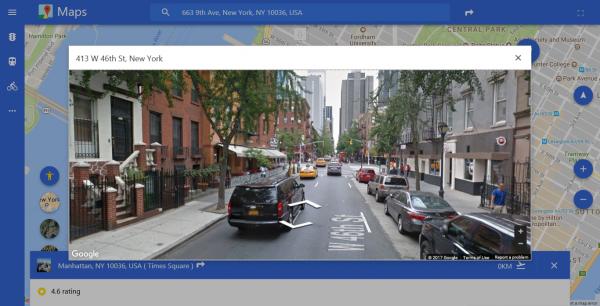 Maps App Discovery: Tra bản đồ Google Maps trên Windows 10