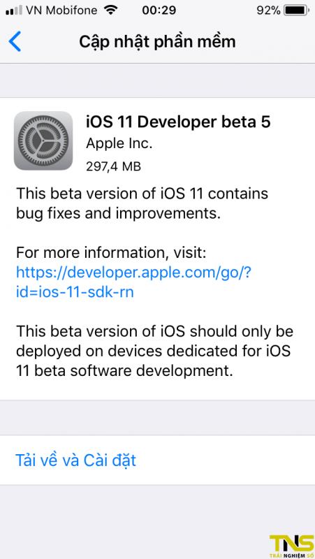 IMG 0291 451x800 - Đã có iOS 11 Beta 5, mời bạn tải về