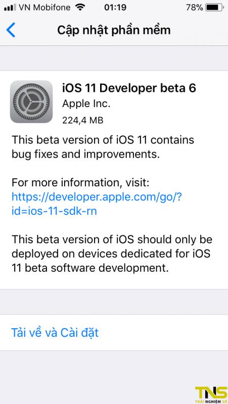 IMG 0295 451x800 - Đã có iOS 11 Beta 6, mời bạn tải về