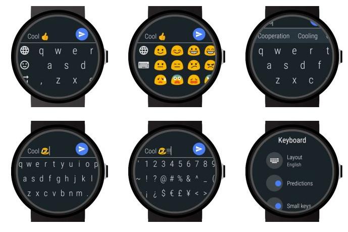Bàn phím cho Android Wear 2.0
