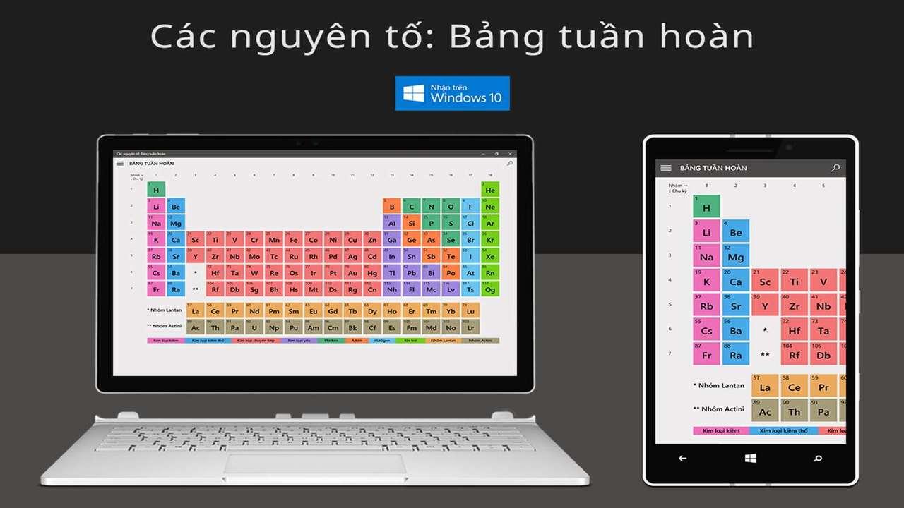 bảng tuần hoàn hóa học - Cách tra bảng tuần hoàn hóa học miễn phí trên điện thoại và máy tính