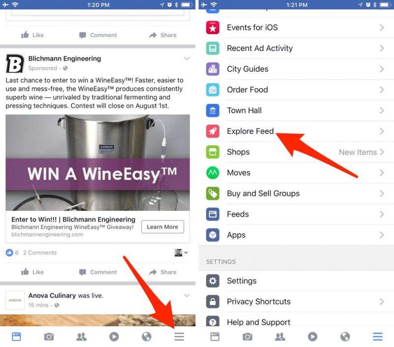 facebook explore feed ios 800x705 - Tự khám phá những thông tin có thể bạn quan tâm trên Facebook