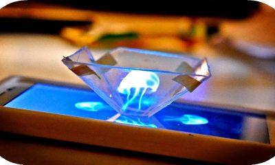 """3d hologram smartphone 400x240 - """"Độc chiêu"""" trình chiếu hình ảnh 3D Holograms bằng smartphone"""