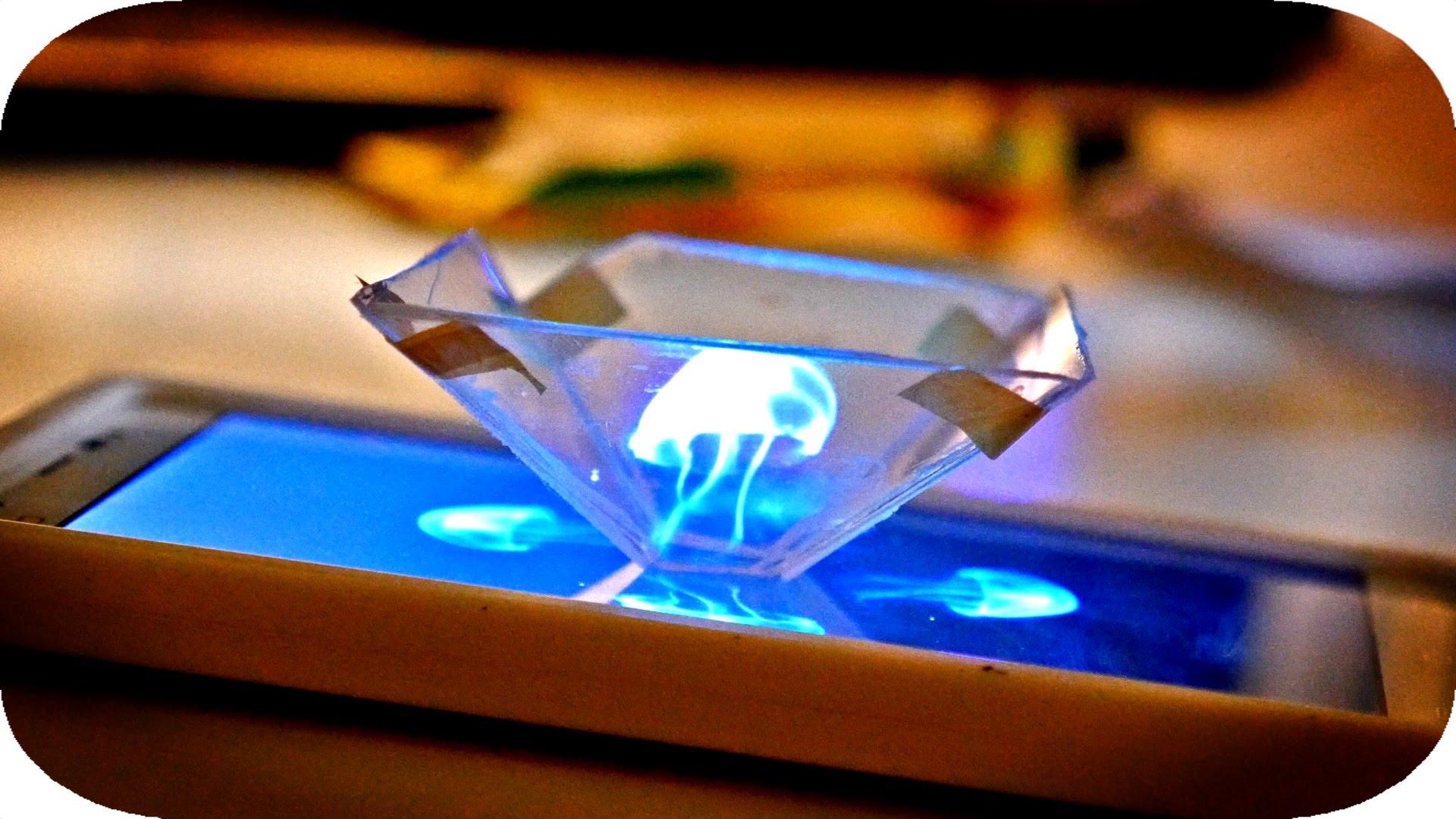 """3d hologram smartphone - """"Độc chiêu"""" trình chiếu hình ảnh 3D Holograms bằng smartphone"""