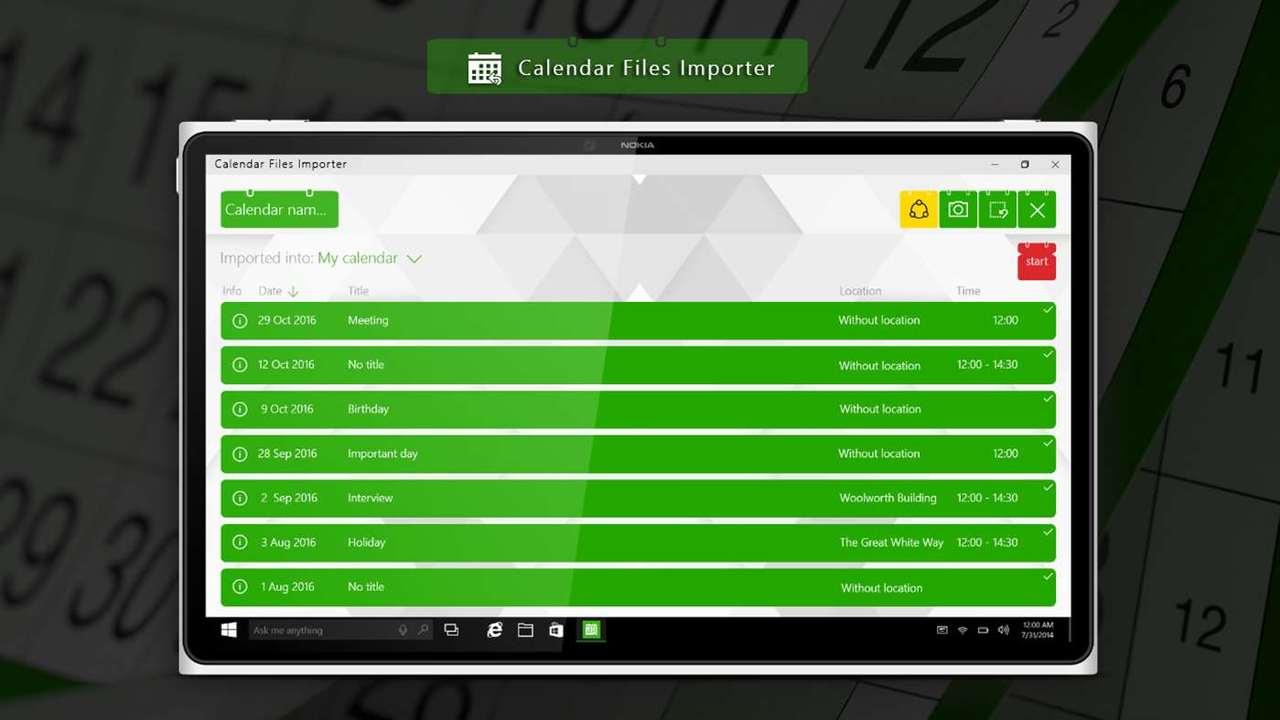 Calendar Files Importer - Calendar Files Importer: Ứng dụng nhập lịch sự kiện vào Google, Outlook đang miễn phí trên Windows 10