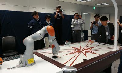 IMG 20170908 robotic arm demo 400x240 - SoftBank và Huawei trình diễn các ứng dụng 5G