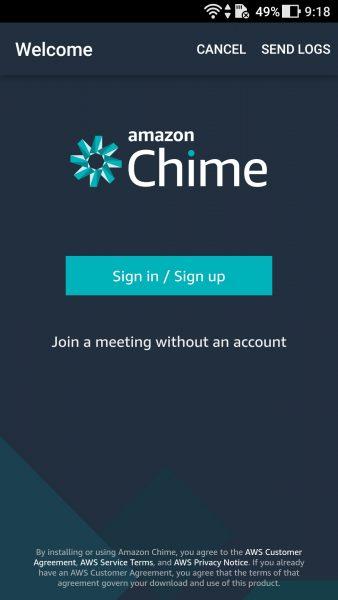 Screenshot 20170926 091820 338x600 - Trải nghiệm sử dụng Amazon Chime