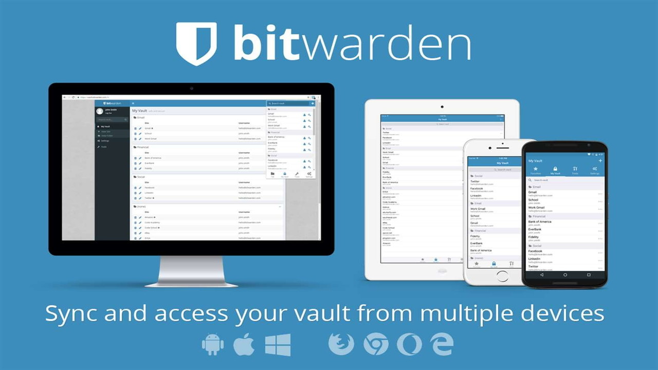 bitwarden - Quản lí mật khẩu và đồng bộ nhiều nền tảng với 2 lớp đăng nhập