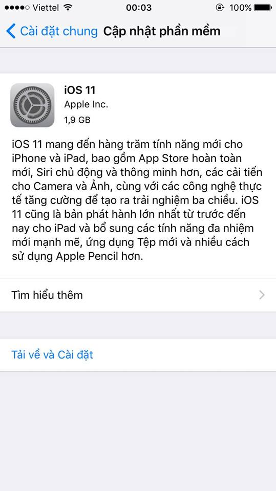 ios 11 3 - Đã có iOS 11 bản chính thức, mời bạn cập nhật