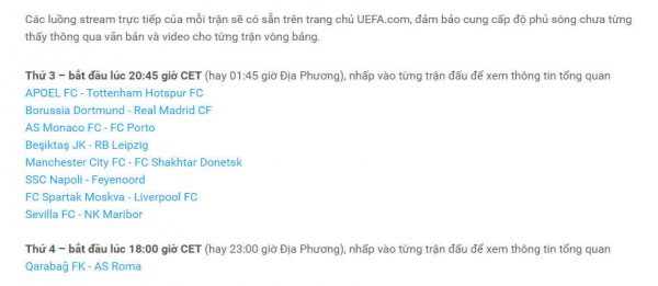 uefa 1 600x261 - Cách xem trực tiếp Champion League trên trang chủ UEFA
