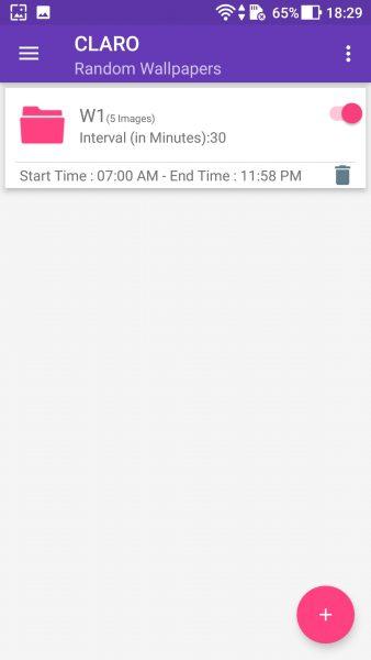 Auto Wallpaper Changer giúp thay hình nền tự động cho màn hình nhà thiết bị Android