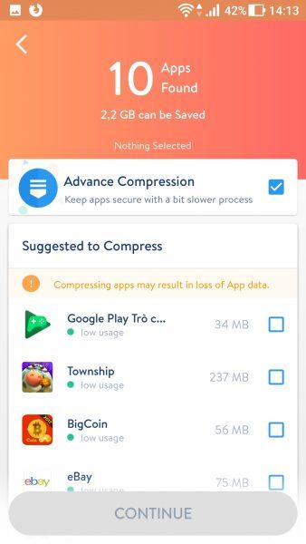 Screenshot 20171021 141352 338x600 - Tiết kiệm dung lượng bộ nhớ trên Android mà không cần xóa ứng dụng