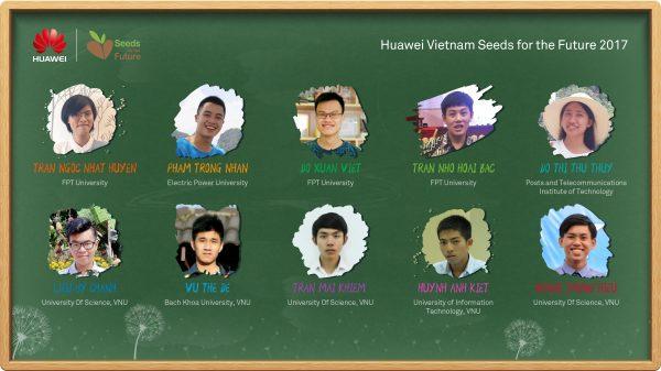 Vietnam Students list Seeds for the Future 2017 600x337 - 10 sinh viên ưu tú được nhận Học bổng Hạt giống Viễn thông Tương lai 2017 của Huawei