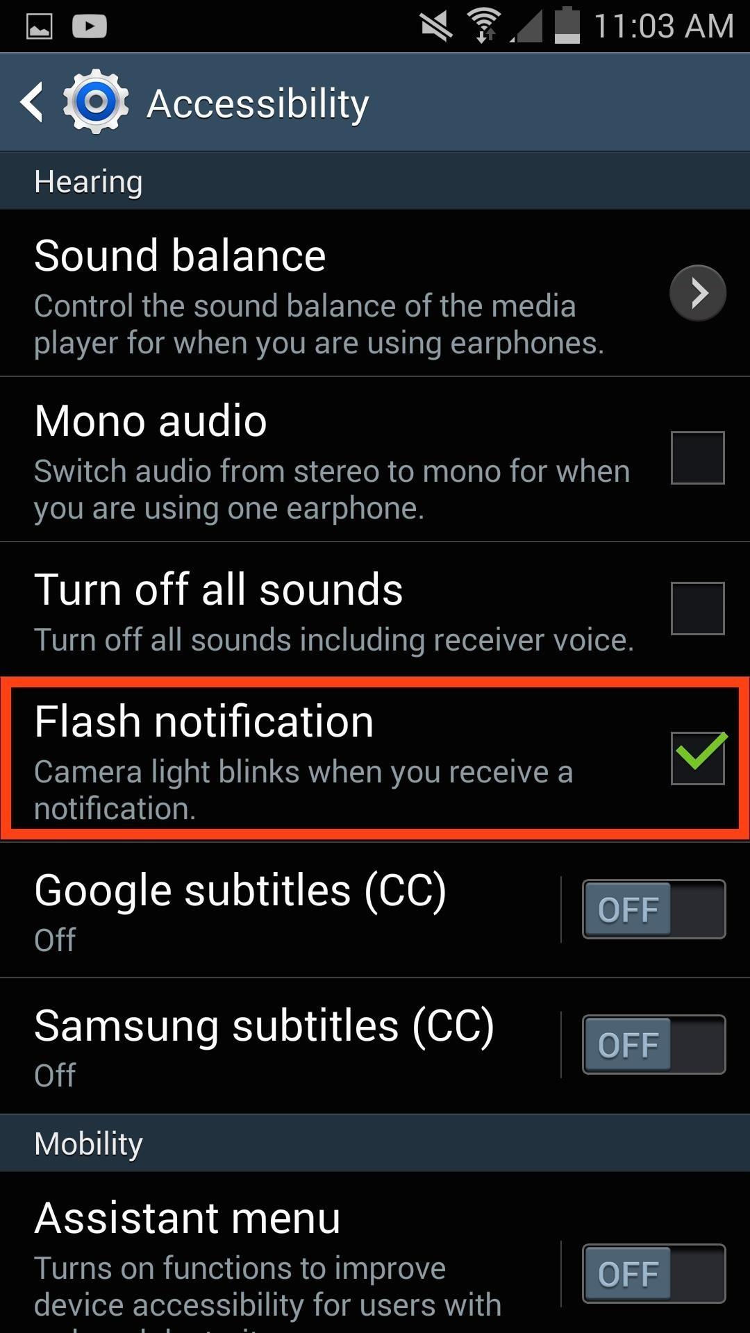 flash notification android - Cách cài đèn flash khi có cuộc gọi đến trên iOS và Android
