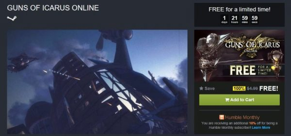 Guns of Icarus Online free Humble Store