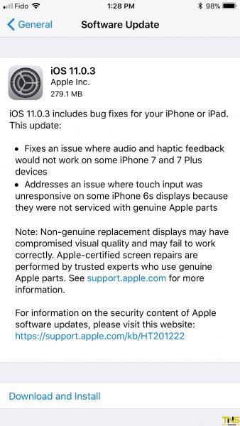 ios 11 338x600 - Apple phát hành iOS 11.0.3