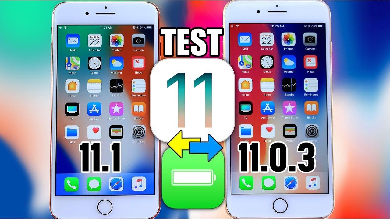 ios 11 so sanh - So sánh thời lượng pin iOS 11.1 và iOS 11.0.3