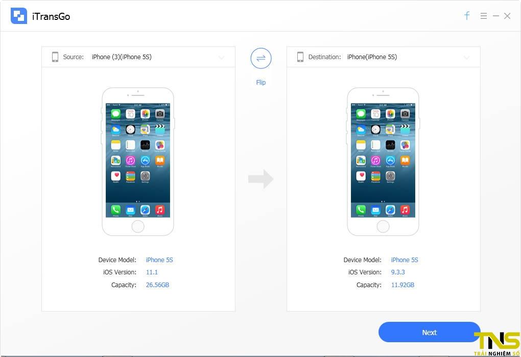 itransgo 3 - Ứng dụng sao chép dữ liệu iPhone đang miễn phí, giá gốc 19,95USD