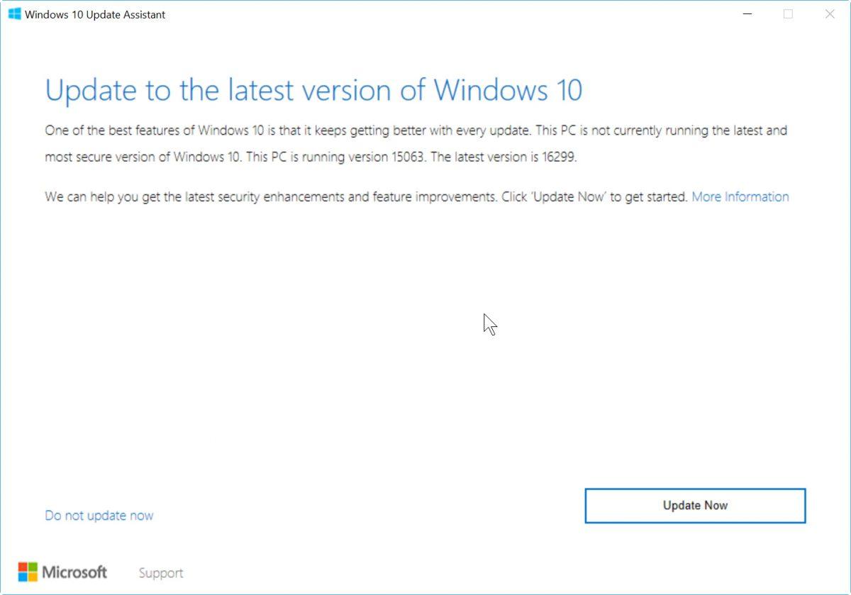 windows 10 fall creator update - Cách cập nhật Windows 10 FCU 1709 (Fall Creators Update) qua Windows Update