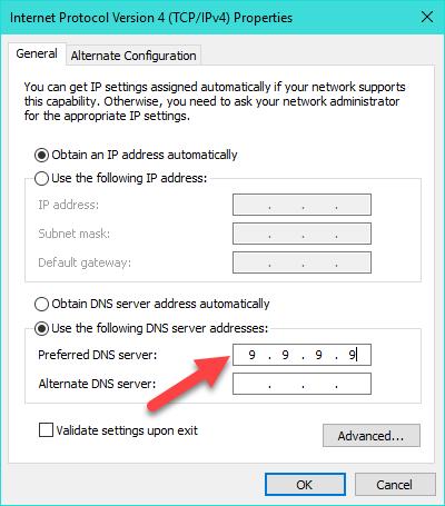 TNS mời bạn dùng thử Quad9 DNS, dịch vụ DNS mới có khả năng ngăn chặn các trang web lừa đảo, malware và các mối nguy hại khác, cải thiện tốc độ lướt web, bảo vệ sự riêng tư trước nhà cung cấp dịch vụ (ISP),…