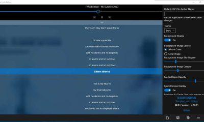 Simple Lyrics Editor1280x720 400x240 - Chỉnh sửa dễ dàng lời bài hát trên Windows 10 với Simple Lyrics Editor