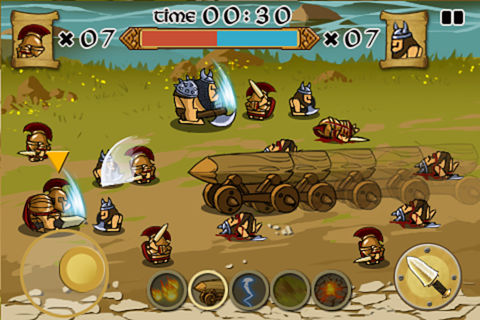 spartans - Game mobile box #7: Manuganu, Battle Beach, Spartans vs Vikings...