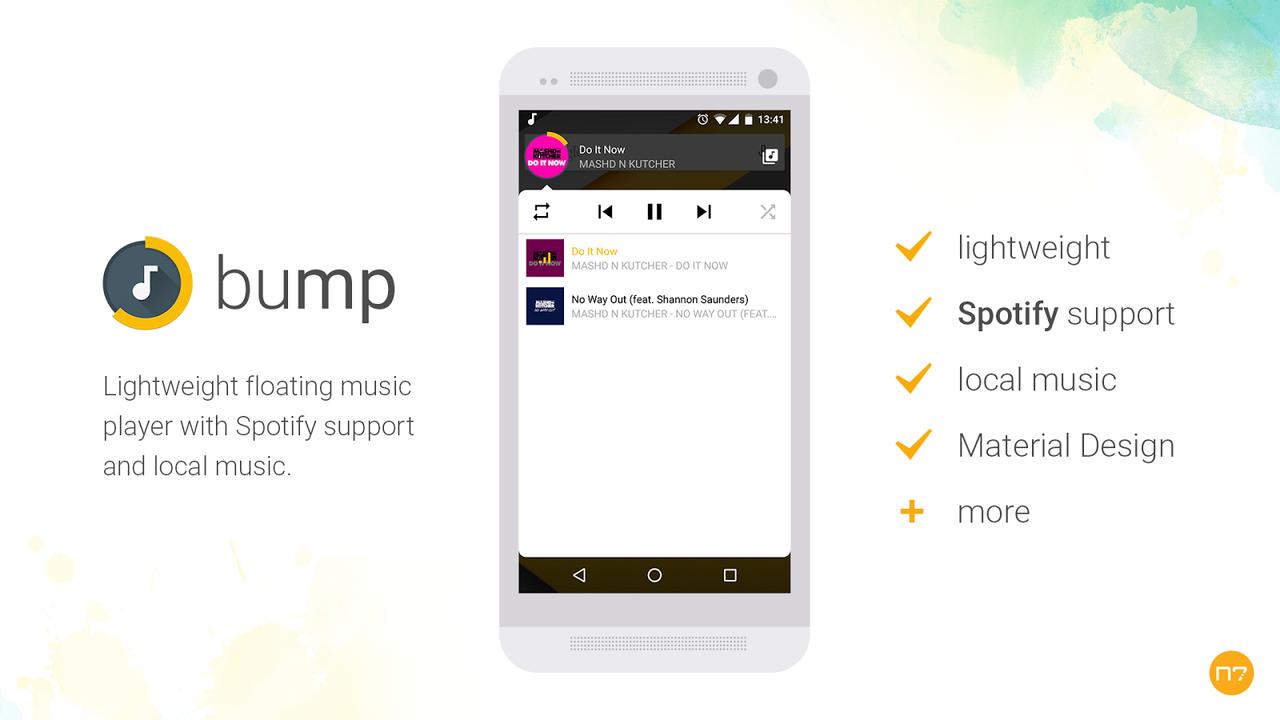 bump - Ứng dụng phát nhạc bong bóng nổi trên Android