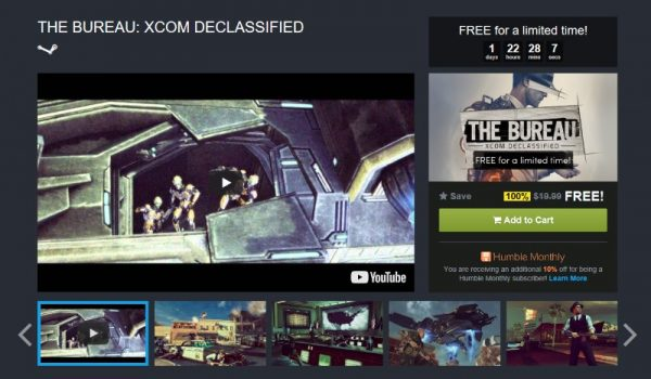 The Bureau: XCOM Declassified free Humble Store
