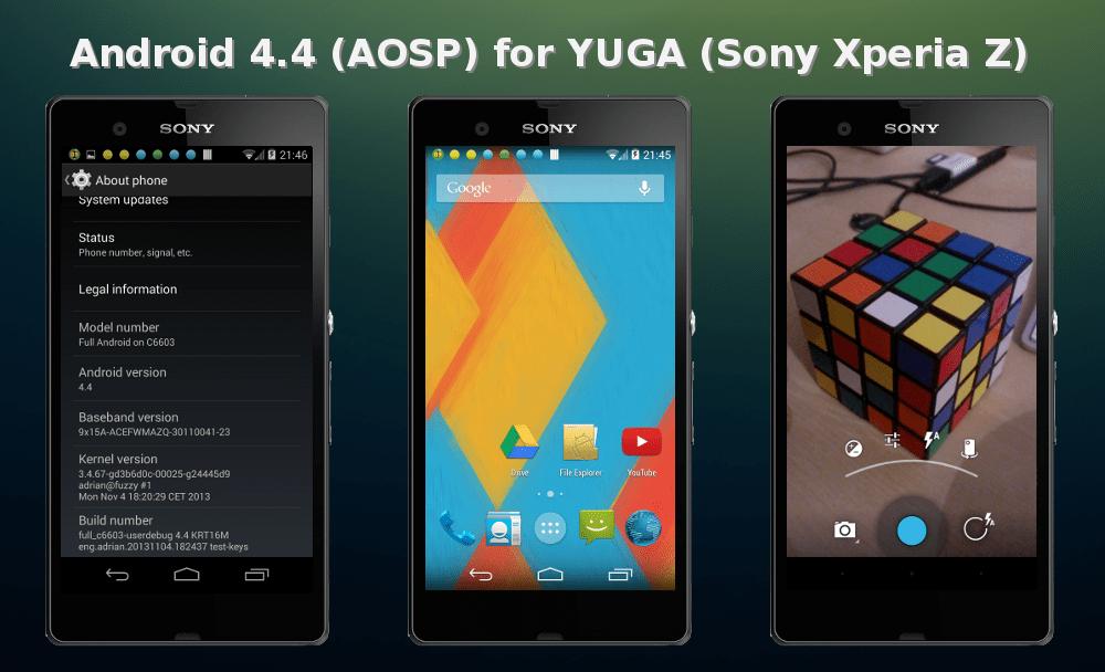 xperia z kitkat - Sony Xperia Z: có bản ROM Android 4.4 tùy biến