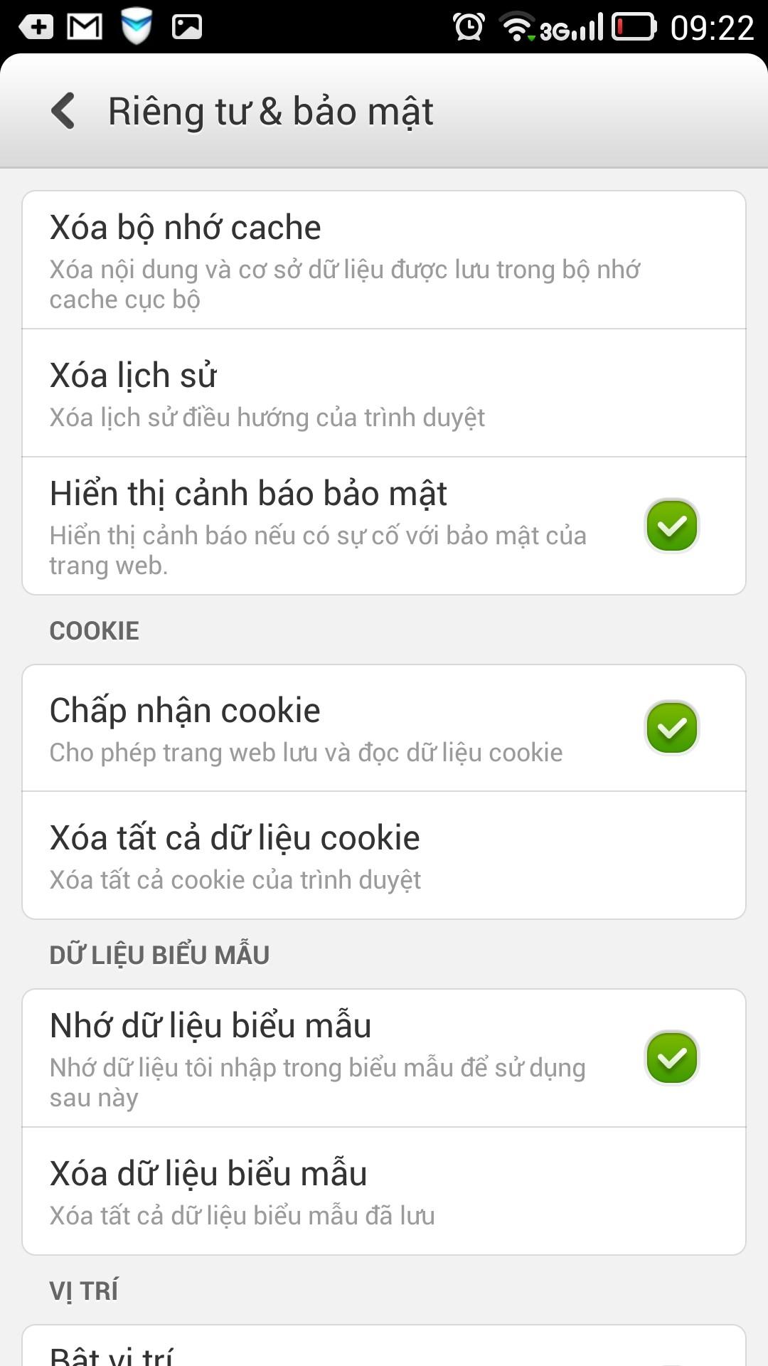 Chrome Clear Cache1 - [Android] Xoá bộ nhớ cache của trình duyệt