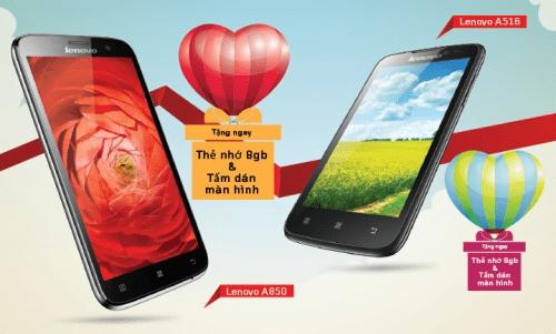 Mua smartphone Lenovo, nhận quà tặng thẻ nhớ