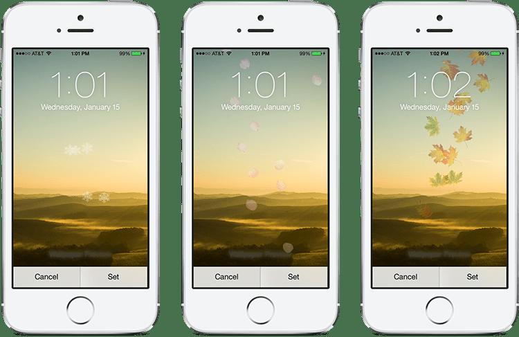 seasonwallpaperbanner - Chèn hiệu ứng động lên wallpaper tĩnh trên iOS 7