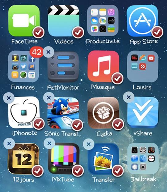 MultiIconMover+ - MultiIconMover+: Di chuyển cùng lúc nhiều icon trong thư mục trên iOS 7