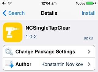 ncsingletapclear - NCSingleTapClear: ẩn thông báo từ Notification Center nhanh chóng