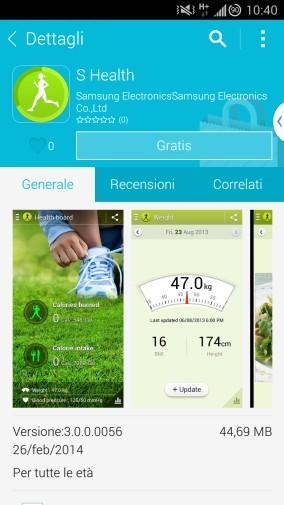 s health - Trải nghiệm trước các ứng dụng của Samsung Galaxy S5