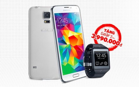 S5 - Mua Galaxy S5, nhận Gear 2 Neo miễn phí