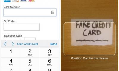 scan credit card 400x240 - Safari trên iOS 8 cho phép quét thẻ tín dụng