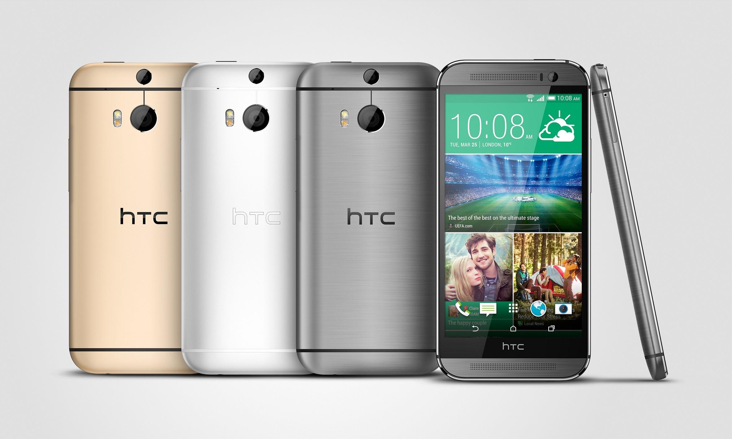 HTC One M8 Gunmetal Silver Gold - HTC ra mắt One M8 phiên bản 2 SIM