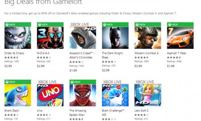 gameloft 400x240 - Gameloft giảm giá 60% hàng loạt game hay trên WP