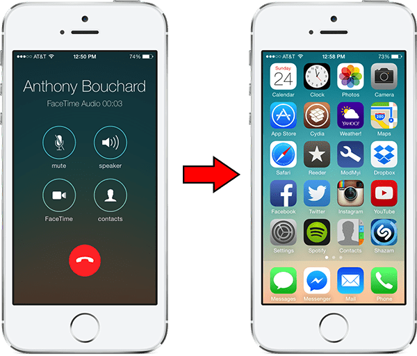 phonehome - PhoneHome: Quay lại HomeScreen sau khi ngừng cuộc gọi